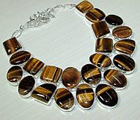 Ожерелье из натурального Тигрового Глаза