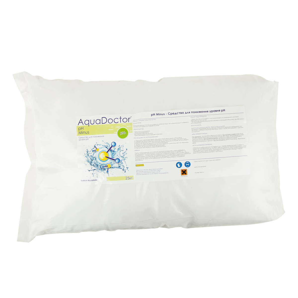 РН Minus, 25кг, засіб для зниження рівня pH, AquaDoctor