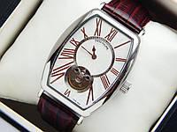 Мужские механические наручные часы Patek Philippe с турбийоном на кожаном ремешке