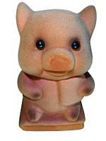 Копилка - свинка замшевая