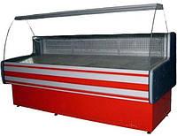 Холодильная витрина Айстермо ВХСК ПАЛЬМИРА 1.5 (0...+8°С, 1500х820х1200 мм, гнутое стекло)