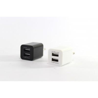 Сетевой адаптер питания AR-2100 5V 2100 mA 2 USB выхода универсальный адаптер переходник