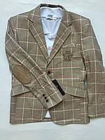 Пиджак для мальчика в клетку, одежда для мальчиков Последний 116, 134см