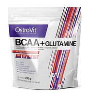 BCAA + L-Glutamine OstroVit, 500 грамм (со вкусом)