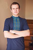 Красивая мужская вышиванка с коротким рукавом