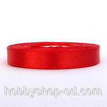 Лента атласная 1,2 см красная