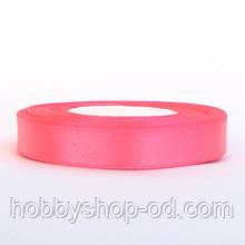 Лента атласная 1,2 см ярко - розовая