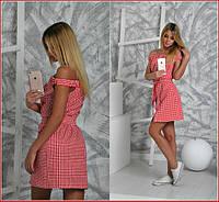 Женское платье в клетку и-40229