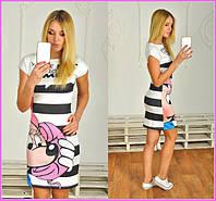 Женское платье мультяшное и-40232