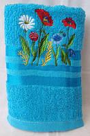 Яркое махровое полотенце. Размер: 1,4 x 0,7