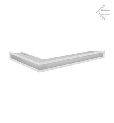 Вентиляционная решетка для камина KRATKI люфт угловая правая 400х600х60 мм SF белая, фото 2
