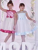Красивое нежное праздничное платье на девочку 3-6 лет.