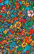 Самоклейка, цветная, яркая, цветы,  dc-fix, германия, витражная для стекол, 90 cm