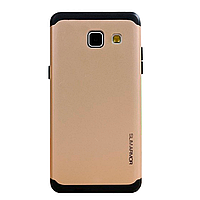 Бампер алюминиевый для Samsung Galaxy A3 (A310 2016) - Motomo TPU Metal case (золотой)