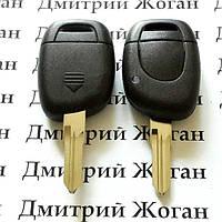 Автоключ для RENAULT (Рено) 1 - кнопка,лезвие VAC 102, с чипом ID46 / 433MHZ