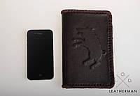 Кожаный кошелек ручной работы, кошелек мужской, черный классический кошелек,, фото 1