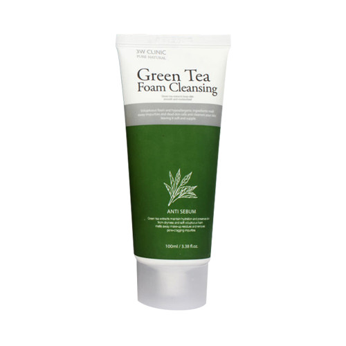 Пенка для умывания 3W CLINIC Green Tea Cleansing Foam 100ml