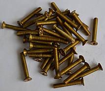 Винты латунный М6 ГОСТ 17475-80, DIN 965 с потайной головкой