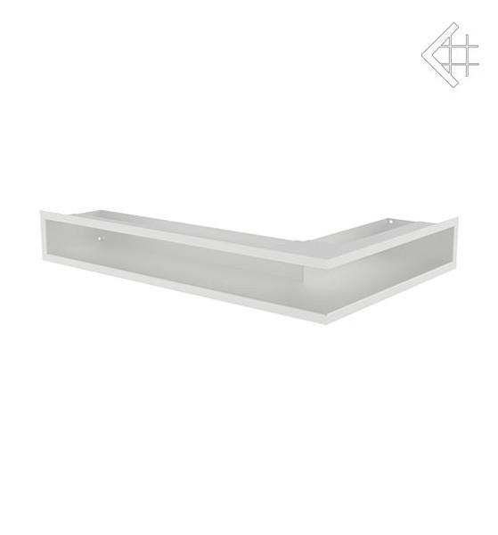 Вентиляционная решетка для камина KRATKI люфт угловая левая 400х600х90 мм SF белая
