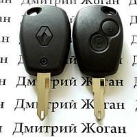 Корпус авто ключа под чип для для RENAULT (Рено) 2 кнопки, лезвие NE 73