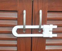 """Блокиратор """"петля"""" для створчатых дверей. Навесной замок для створчатых дверей"""