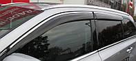 Дефлекторы окон (ветровики) Lexus RX 350/400 2009-2015 С Хром молдингом