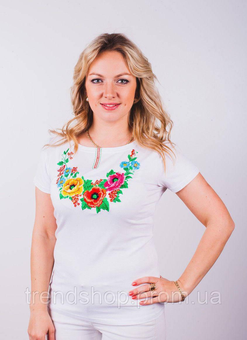 Модные женские футболки с яркой вышивкой купить в Украине  afb846817a246