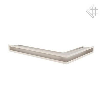 Вентиляционная решетка для камина KRATKI люфт угловая левая 400х600х60 мм SF бежевая, фото 2