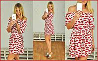 Женское платье  Губки м-40243