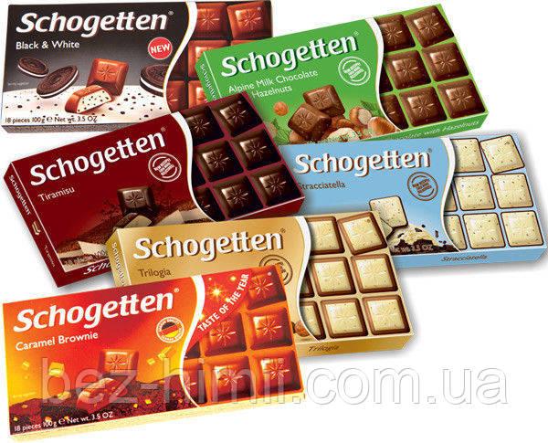 Шоколад Шогетен в ассортименте, Германия. 100г.