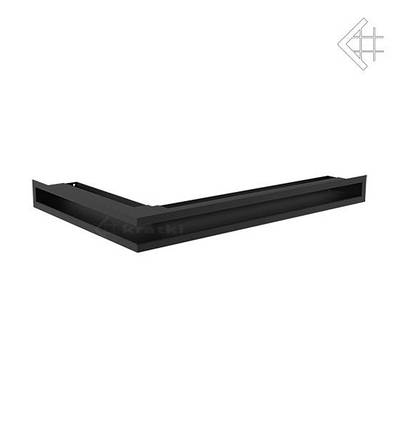 Вентиляционная решетка для камина KRATKI люфт угловая правая 400х600х60 мм SF черная, фото 2