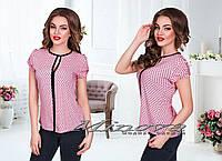 Рубашка женская с вырезом принт сердечки