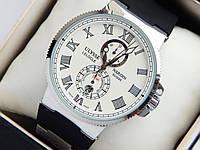 Мужские механические наручные часы Ulysse Nardin Le Locle Suisse на каучуковом ремешке, фото 1