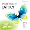 Бумага PrintPro глянц. 180г/м, 10x15 PG180-500