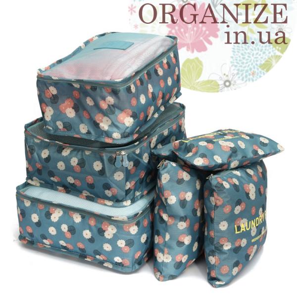 Комплект сумочек в чемодан Monopoly Travel (Daisy Mint) реплика