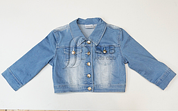 Куртка джинсова для дівчинки