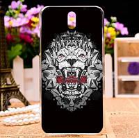 Силиконовый чехол накладка для HTC Desire 610 с картинкой ледяной лев