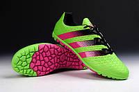 Футбольные сороконожки adidas ACE II 15.1 TF Solar Green/Shock Pink/Core Black 39 розмір