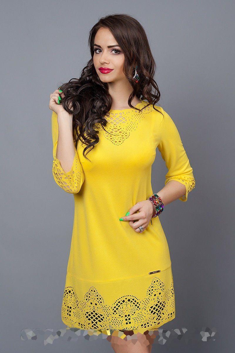 Жіноче плаття жовте