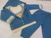 Спортивный костюм (Кофта с кружевом, штаны, гольф)