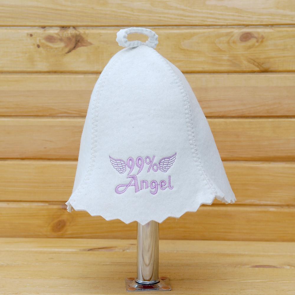 "Шапка для бани и сауны V3 ""99% Angel"""