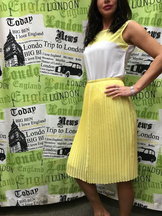 Женская желтая юбка