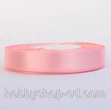 Лента атласная 1,2 см  светло - розовая