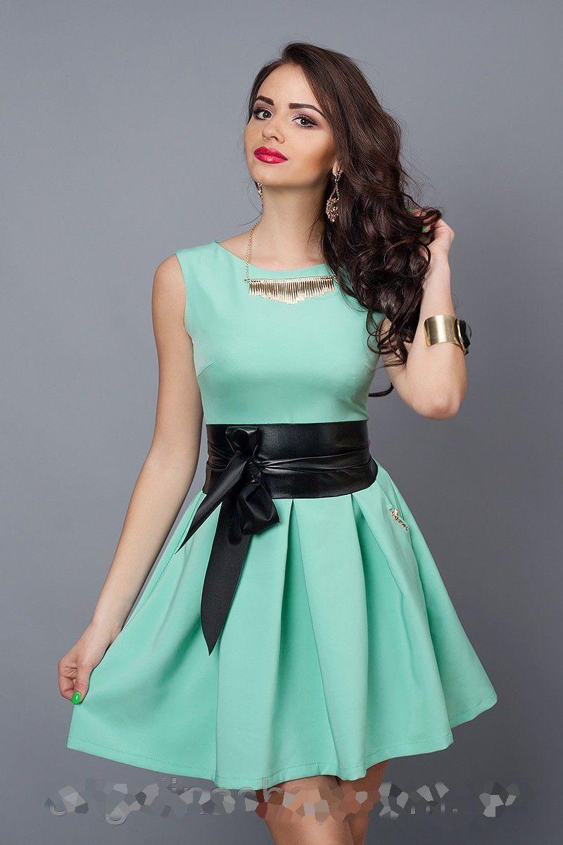 Модное Женское платье мята