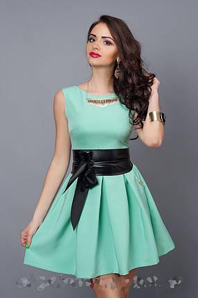 Модное Женское платье мята, фото 2