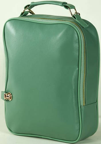 Великолепная женская сумка-рюкзак 3 л. Traum 7224-03, зеленый