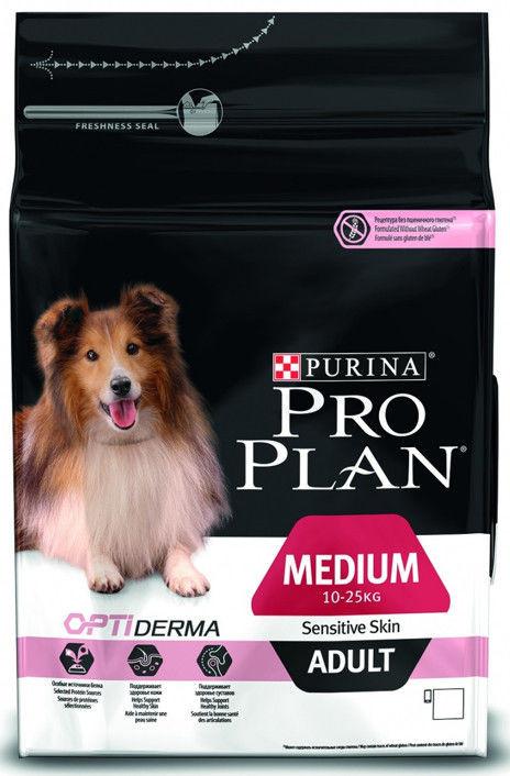 Pro Plan Adult Medium Sensitive Salmon & Rice корм для собак с чувствительной кожей