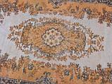 Оранжевый ковер винтажный классический безворсовый , фото 5