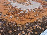 Оранжевый ковер винтажный классический безворсовый , фото 4
