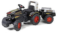 Детский педальный трактор с прицепом King Falk 1075В